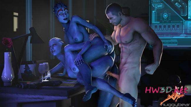 порно картинки mass effect