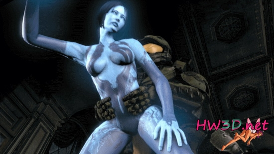 Sex with Cortana (Halo 4) 1080p GIF