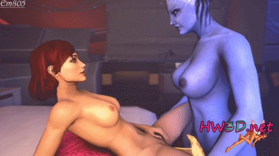 Femshep and Liara 720p GIF