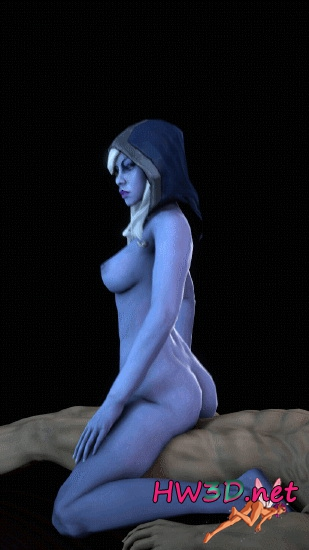 Drow Ranger Reverse Cowgirl 720p GIF