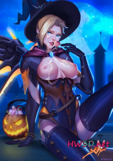 Happy Halloween! Mercy Hentai (Overwatch)