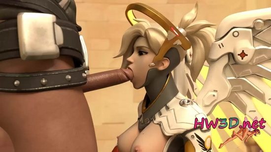 Fast Blowjob from Mercy 720p GIF