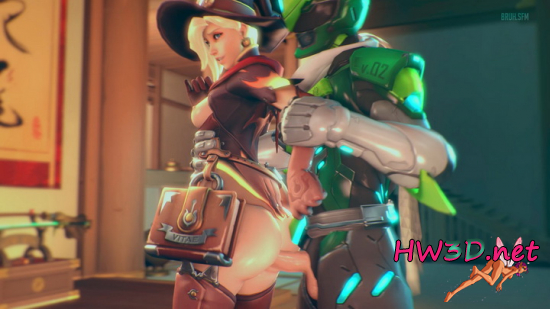 Mercy x Genji, From Behind 1080p Video
