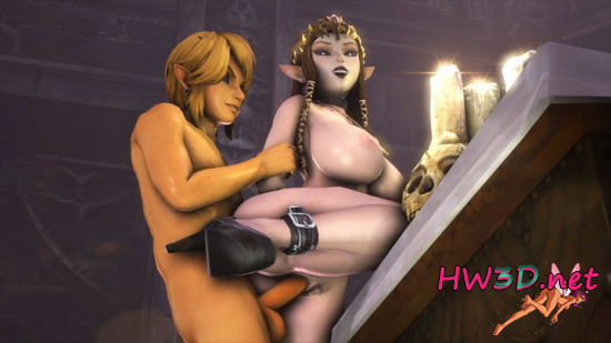 Vampire Link x Vampire Zelda From Behind 720p Video
