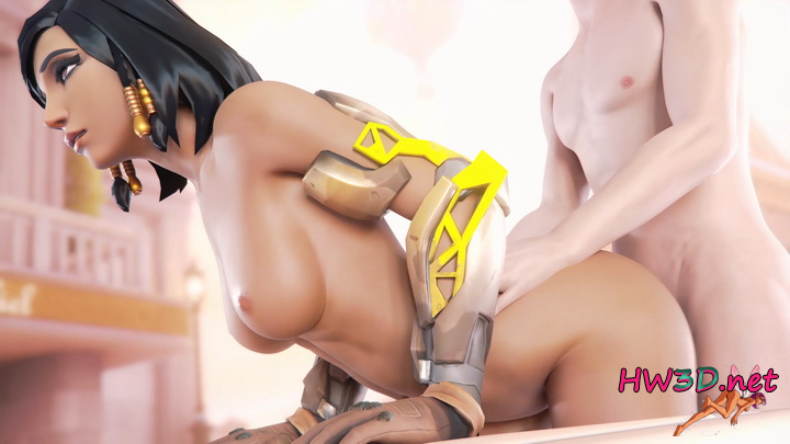 Pharah Bent Over 4k Video