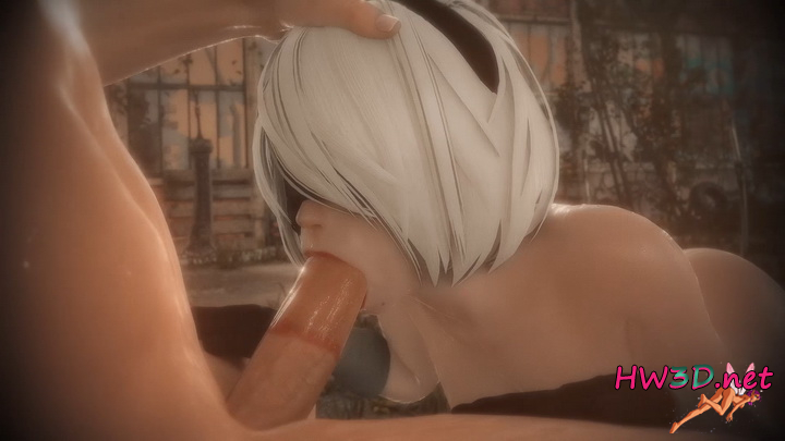 2B fellatio (Nier: Automata) (2020) 1080p Video